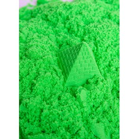 Green Play Sand Kinetic Sensory Activity